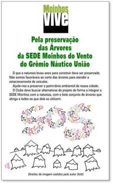 Panfleto distribuido pelo Moinhos Vive