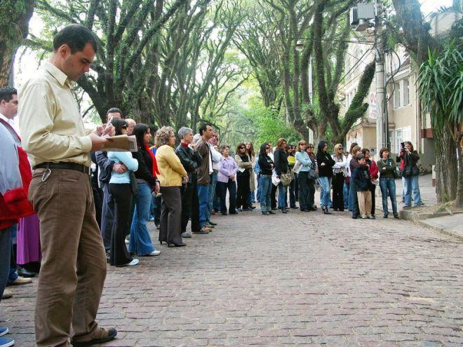 Reunião na rua Gonçalo de Carvalho, 2006