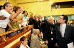 Vereador Haroldo ameaçando o chargista Santiago - Foto: Elson Sempé Pedroso/CMPA