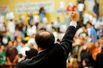Dr. Goulart, vereador do PTB, comemora sua triste vitória.- Foto: Elson Sempé Pedroso/CMPA