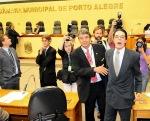 Vereador Haroldo xingando e sendo xingado - Foto: Elson Sempé Pedroso/CMPA