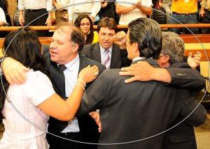 Esqueceram que estavam no plenário? (novembro 2008) - Foto: Elson Sempé Pedroso/CMPA