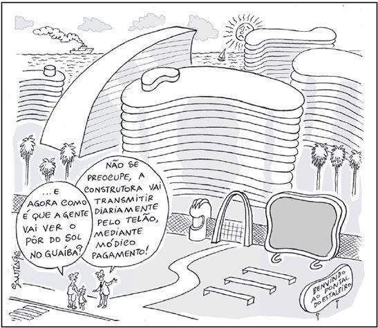 Charge de Santiago para o jornal Extra Classe