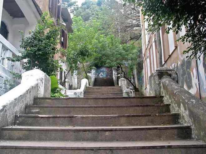 Escadaria da rua João Manoel- Centro Histórico de Porto Alegre.