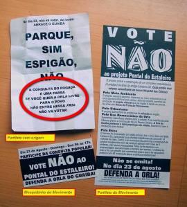 """Panfletos pediam """"não vá votar"""" na consulta dos espigões"""