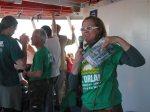 Coordenadores do Movimento explicavam a importância da participação de todos na preservação ambiental.