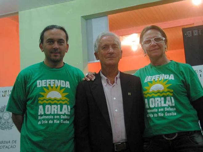 1º suplente Roberto Oliveira (Amovita), conselheiro Eduíno de Mattos e Anadir Alba (conselheira eleita da RP6)