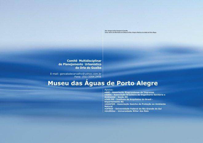 Apoios ao Museu das Águas de Porto Alegre