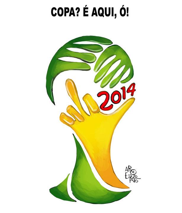 Copa 2014 - Charge de Aroeira