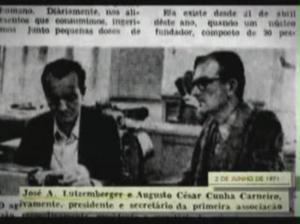 Carneiro e Lutzenberger:  criação da AGAPAN em 1971