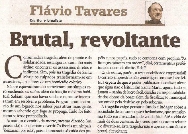 Brutal Revoltante - Flavio Tavares