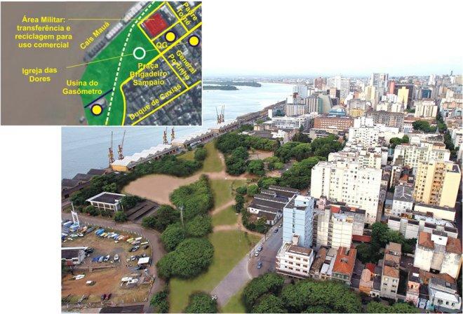 Parque do Gasômetro - imagem do projeto da RP1/arquiteto Rogério Dal Molin