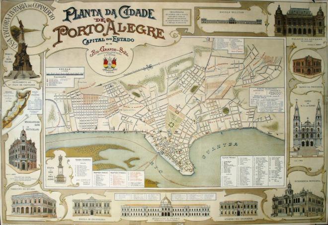Planta de Porto Alegre - 1906