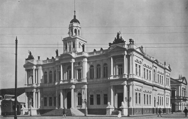O Palácio da Municipalidade (prefeitura) em 1913