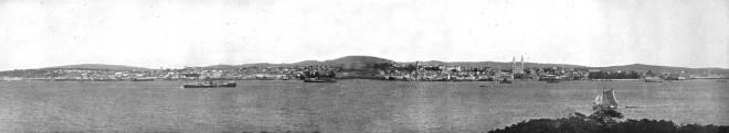 Vista panorâmica de Porto Alegre em 1913