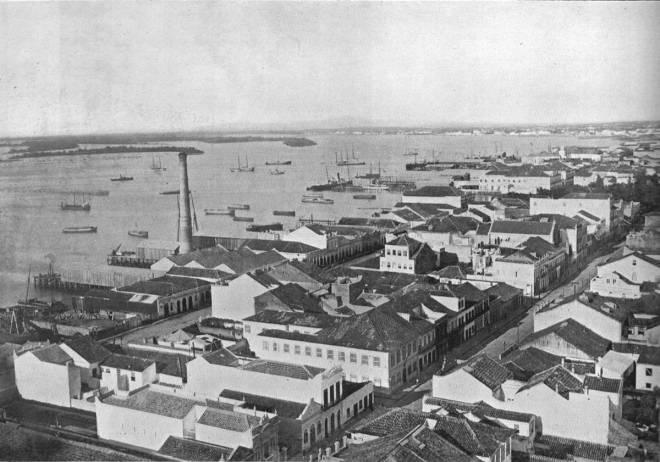 Área portuária de Porto Alegre em 1913