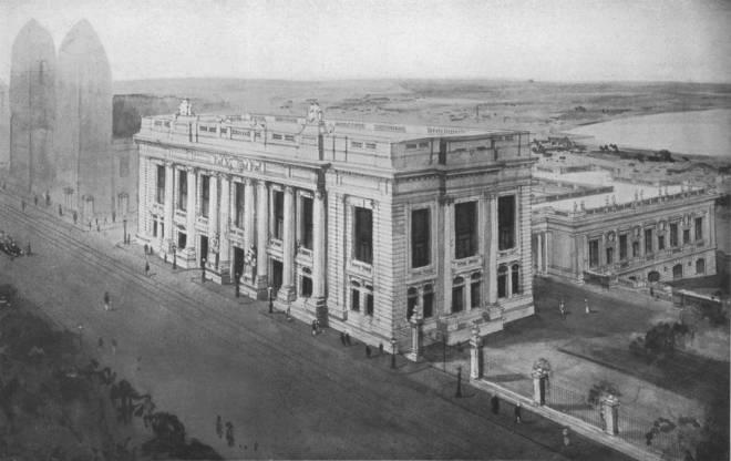 O projeto para o novo Palácio Presidencial, Palácio Piratini, em 1913