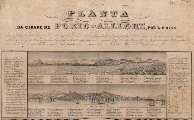 Porto Alegre em 1834, segundo ArsèneIsabelle